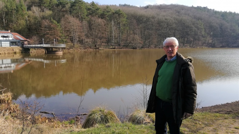 Johannes Ley (CDU) am Mühlensee