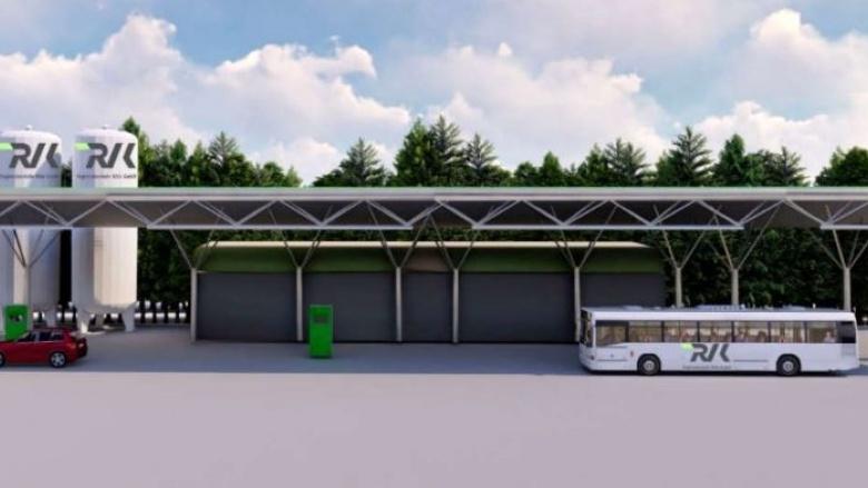 Visualisierung RVK Tankstelle für alternative Antriebsformen