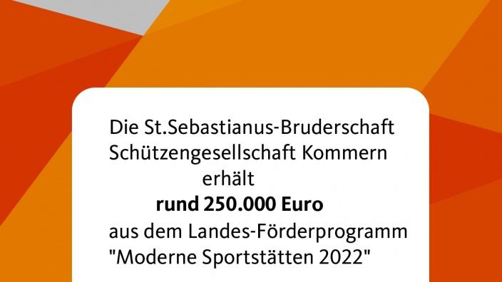 Förderung Sportstätten St Sebastianus Bruderschaft
