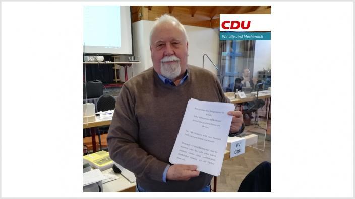CDU stimmt Haushalt 2021 zu